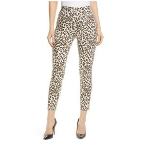 Frame denim Ali high rise cigarette Leopard jeans